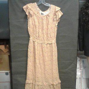 Women's Floral Print Flutter Short Sleeve Dress